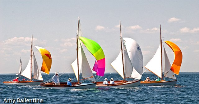 H Class Racing boats with spinakers